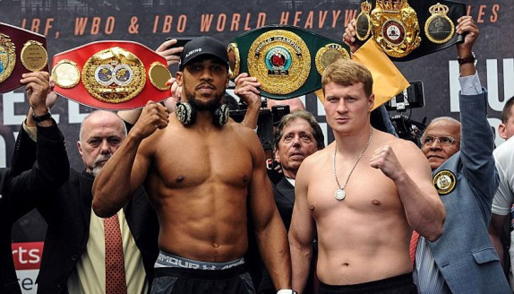 """A Lesson In Mutual Respect – Anthony Joshua vs Alexander Povetkin – """"The Triumph Of The Human Spirit""""…."""